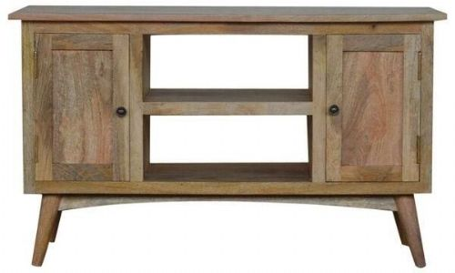 Mango Wood TV stand With 2 Doors And 2 Shelves
